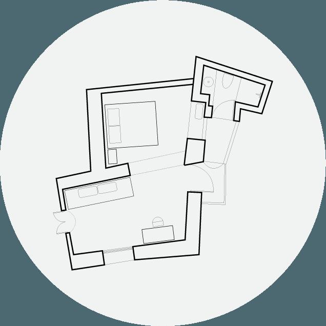 Hotel Off Room Tree View Floorplan