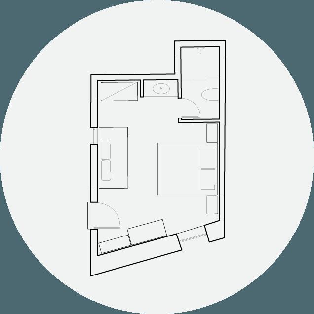 Hotel Off Chania Deluxe Garden Floorplan