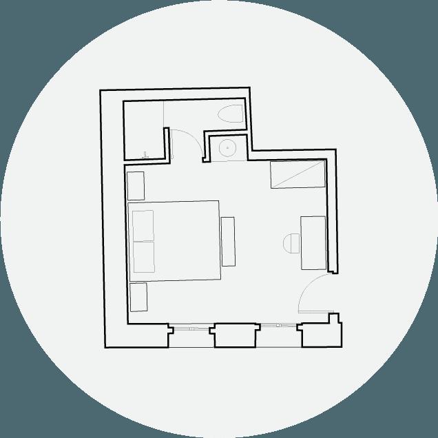 Hotel Off Chania Deluxe Gardenview Floorplan