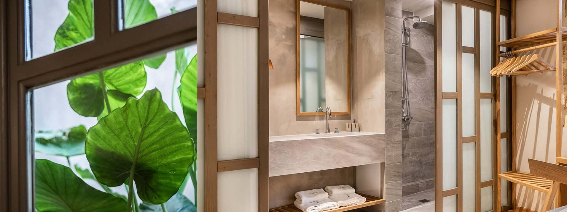 Hotel Off Chania Suite Bath Plant 1912x717