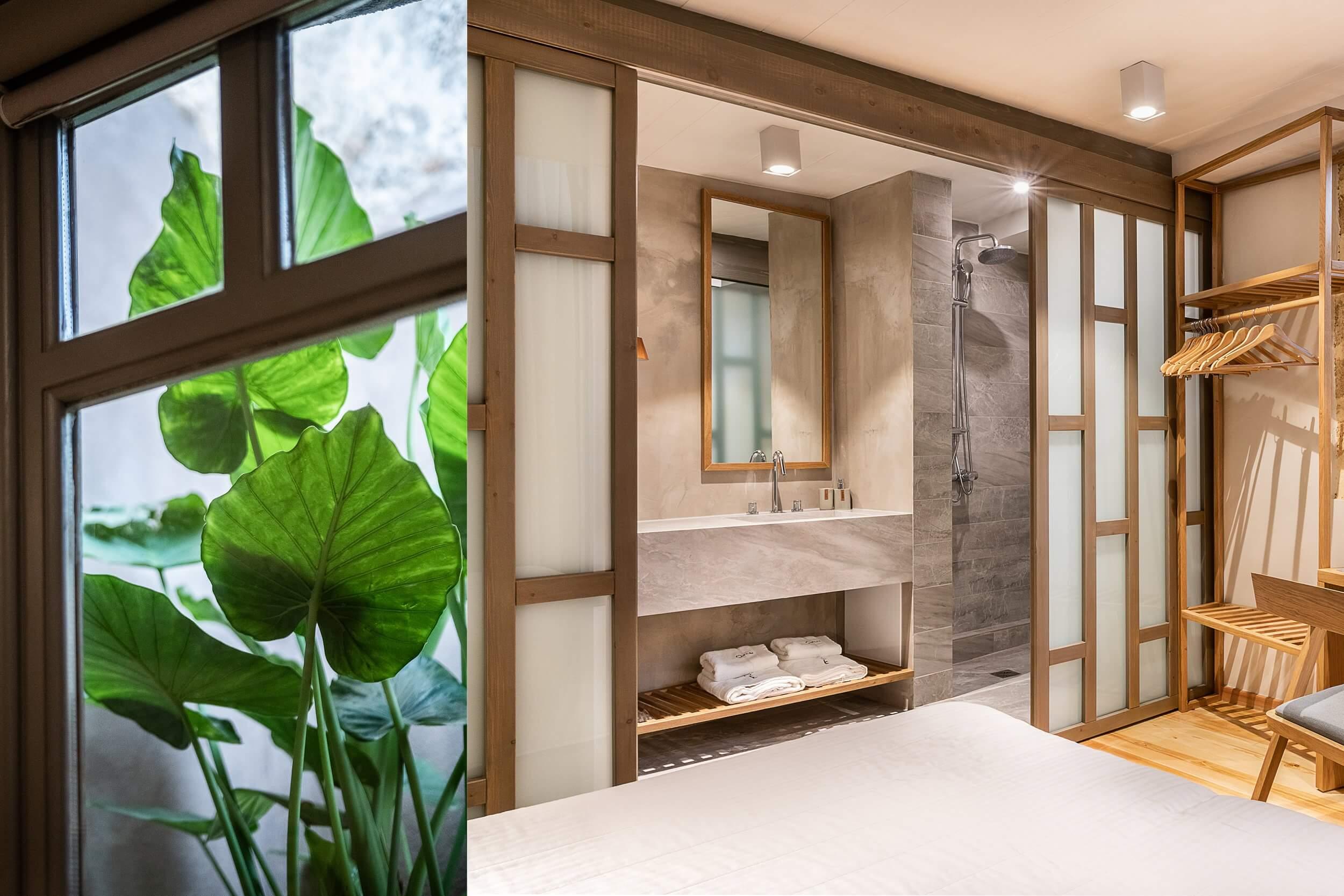 Hotel Off Chania Suite Bath Plant